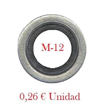 Arandela Cárter Metal-Goma  M12