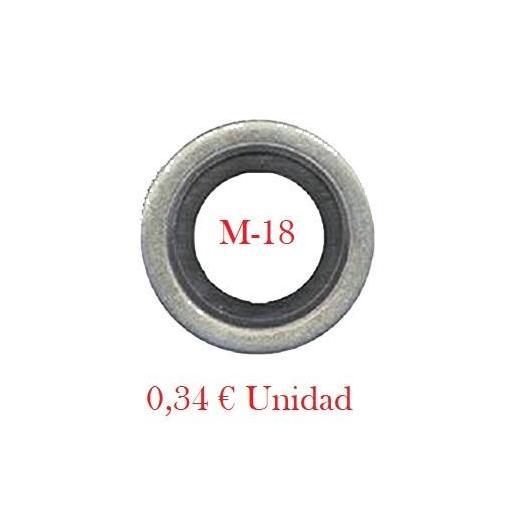 Arandela de Cárter Alfa Romeo, Fiat, Opel, Chevrolet, Jeep, Lancia, Saab, Vauxhall - Metal-Goma M-18