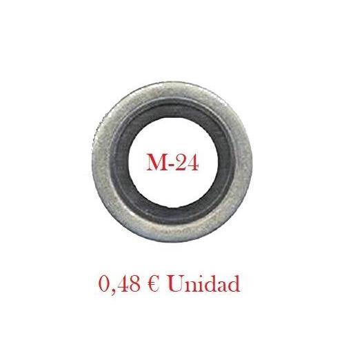 Arandela de Cárter Camiones Renault y DAF - Metal-Goma  M-24 [0]