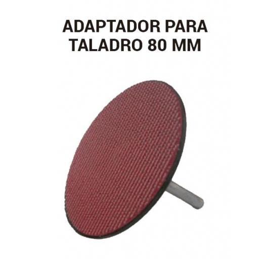 Adaptador para taladro 80 mm.