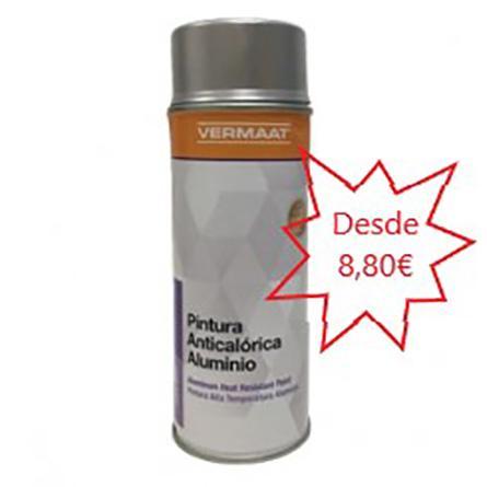 Pintura Aluminio Anticalórico 800 ºC en Spray  400ml.