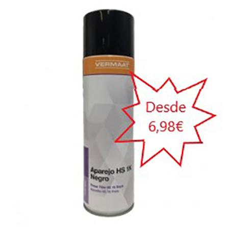 Aparejo en Spray Negro RAL 9011  500ml.