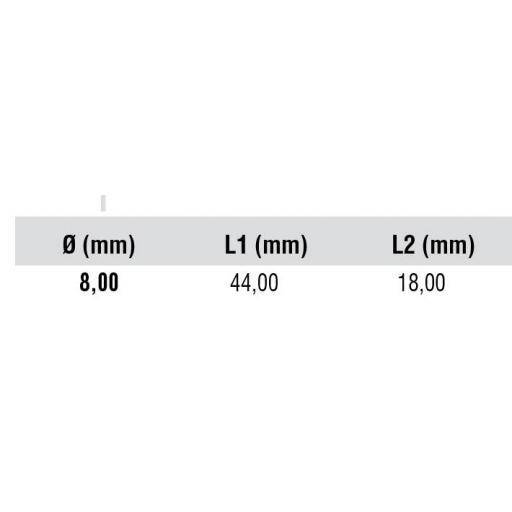 Broca FUTURA HSS-CO  TIALN para Puntos de Soldadura para Maquina Neumática. [2]