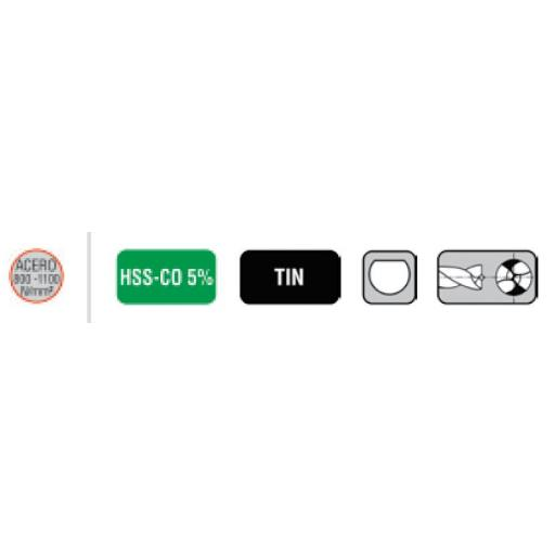 Broca TITANIO HSS-CO  TIN para Puntos de Soldadura para Maquina Neumática. [1]