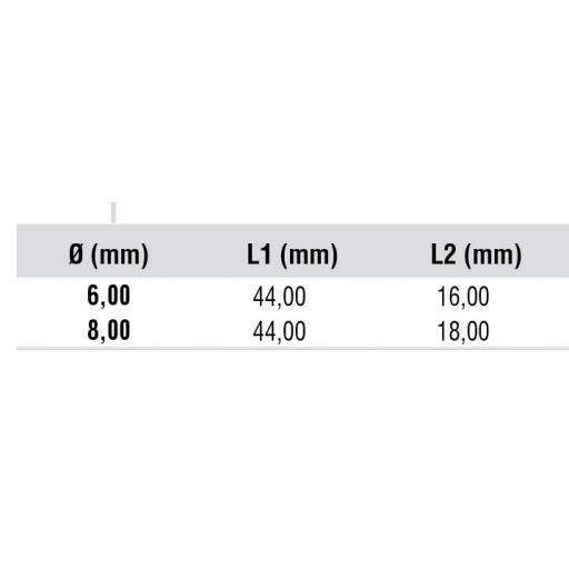 Broca TITANIO HSS-CO  TIN para Puntos de Soldadura para Maquina Neumática. [2]