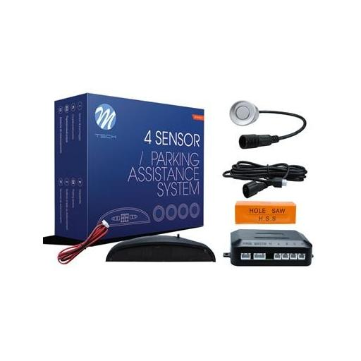 Sensores de aparcamiento CP5 pantalla LED + conectores (Negro, Plata o Blanco) [1]