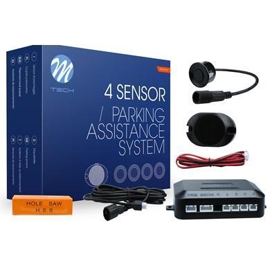Sensores de aparcamiento CP6 buzzer + conectores (Negro, Plata o Blanco)