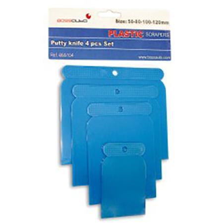 Juego de espátulas de plástico (50, 80, 100 y 120 mm)