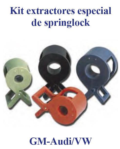 Juego Extractores Especiales de Springlock  GM-Audi/VW