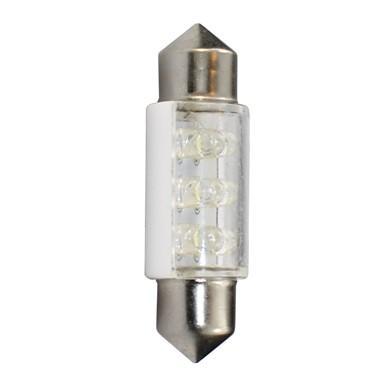 Lámpara LED Plafonier C5W 12V  11x36mm 6 x LED 3mm  Blanco (Blister 2 unidades)