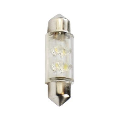 Lámpara LED Plafonier 12V C5W 11x36mm 4 x LED 3mm  Blanco (Blister 2 unidades)
