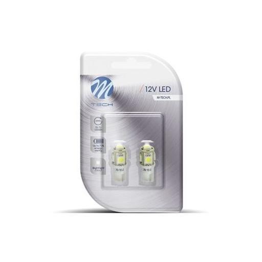 Lámparas LED W5W  12V 5xSMD5050 Blanco  (Blister 2 unidades) [1]