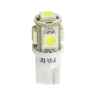 Lámparas LED W5W  12V 5xSMD5050 Blanco  (Blister 2 unidades)
