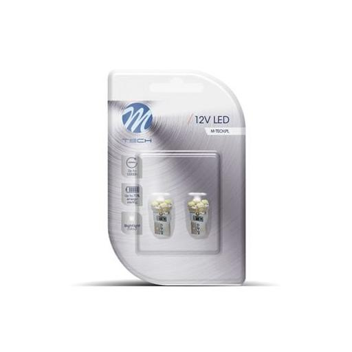 Lámpara LED W5W 12V 4xSMD3528  Blanco  (Blister 2 unidades) [1]