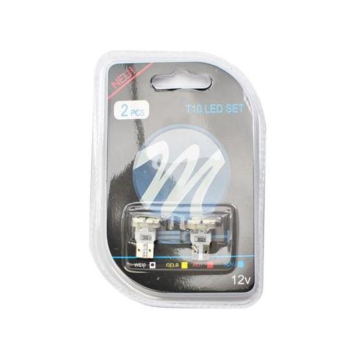 Lámpara LED 12V W5W 8xSMD3528  Blanco  (Blister 2 unidades) [1]