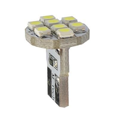 Lámpara LED 12V W5W 8xSMD3528  Blanco  (Blister 2 unidades)