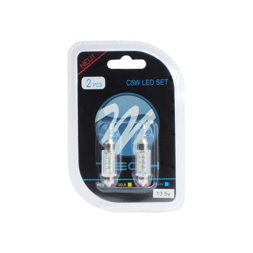 Lámpara LED Plafonier 12V C5W 11x36mm 8xSMD  Blanco (Blister 2 unidades) [1]