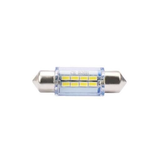 Lámpara LED Plafonier 12V C5W 11x36mm 8xSMD  Blanco (Blister 2 unidades)