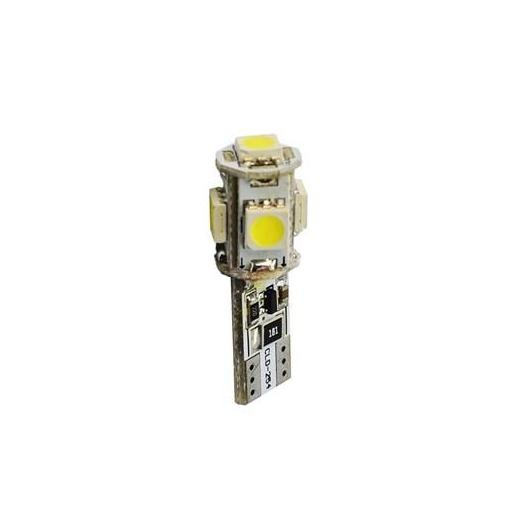 Lámpara LED W5W 12V 5xSMD5050  CANBUS Blanco  (Blister 2 unidades)