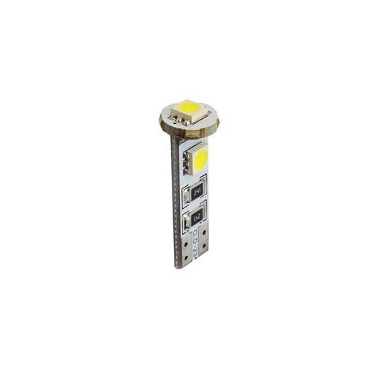 Lámpara LED W5W 12V 3xSMD5050 CANBUS Blanco  (Blister 2 unidades)