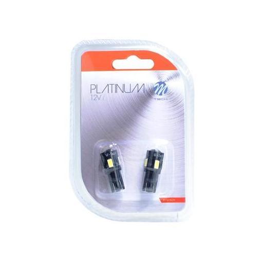 Lámpara LED W5W 12V 6xSMD5630  ring y lente CANBUS Blanco (Blister 2 unidades) [1]