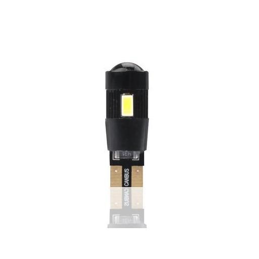Lámpara LED W5W 12V 6xSMD5630  ring y lente CANBUS Blanco (Blister 2 unidades)