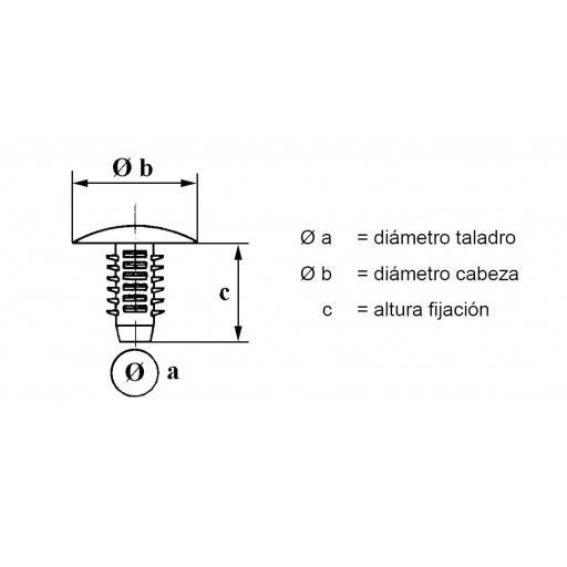 Fijación PSA, Renault Tapizados y Pasarueda Ø 10mm (50 unidades) [1]