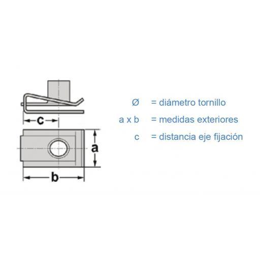 Clip fijación Ø 4,2  (50 Unidades) [1]