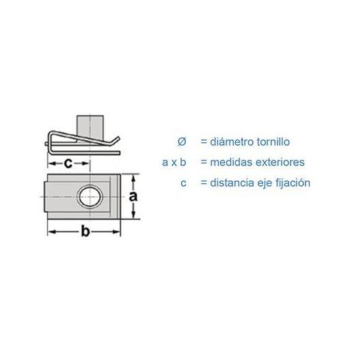 Clip Fijación  Fiat, PSA, Renault, VAG (50 unidades) [1]