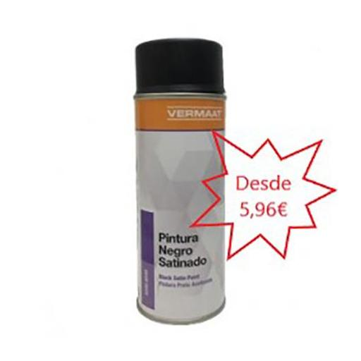 Pintura Universal Negro Satinado en Spray  400ml.