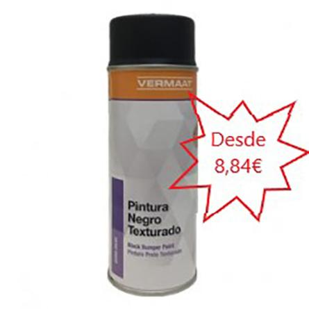 Pintura Negro Texturado en Spray  400ml.