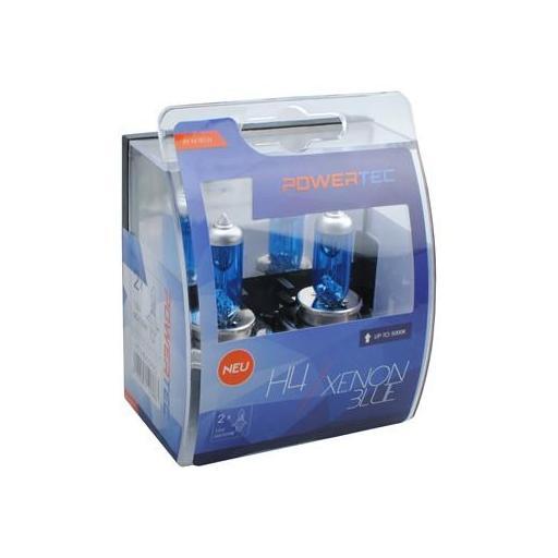 Powertec Xenon Azul H4 12V DUO