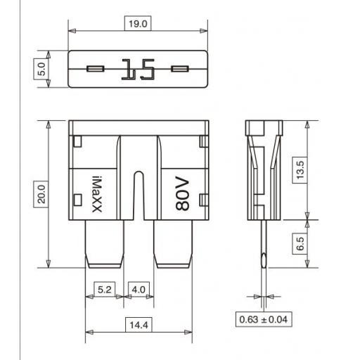Fusible Standard 80V (10 Unidades) [1]