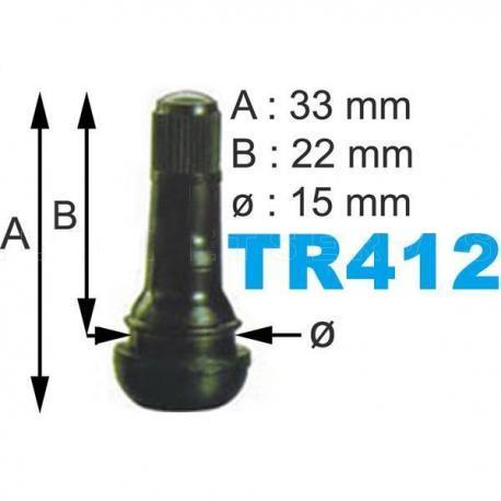 Caja de 100 Válvulas TR-412 para neumáticos.