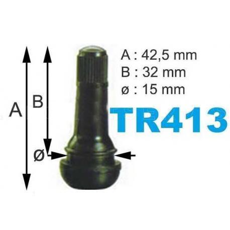 Caja de 100 Válvulas TR-413 para neumáticos.