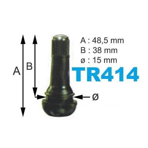 Caja de 100 Válvulas TR-414 para neumáticos.