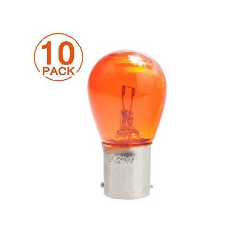 Lámpara 1 Polo 12V/21W S25 BA15s  AMBAR  M-Tech (10 unidades)