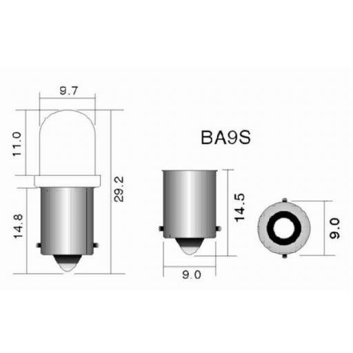 Lámpara T2W12V/2W BA9S  M-Tech  (10 unidades) [1]