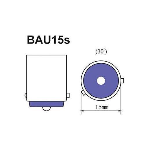 Lámpara 1 Polo 12V 21W PY21W AMBAR BAU15s  M-Tech  (10 unidades) [1]