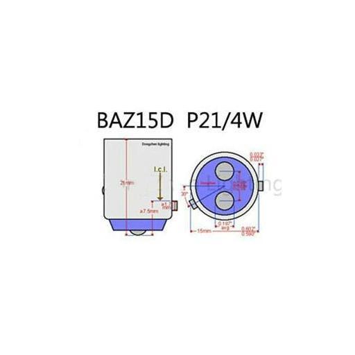 Lámpara M-Tech 2 Polos 12V 21/4W BAZ15d  (10 unidades) [2]