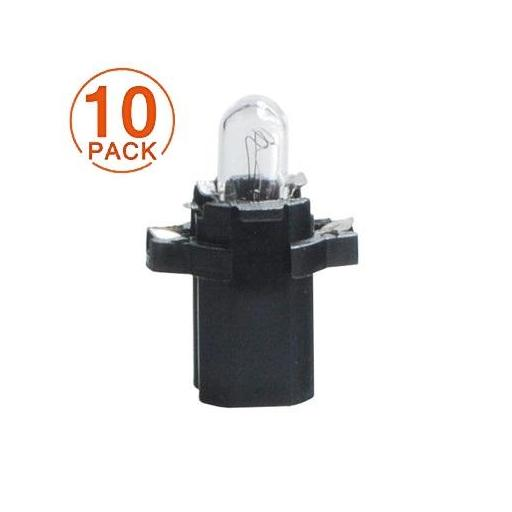 Lámpara BAX 12V/1.2W BX8.5d  BLACK  M-Tech  (10 unidades)