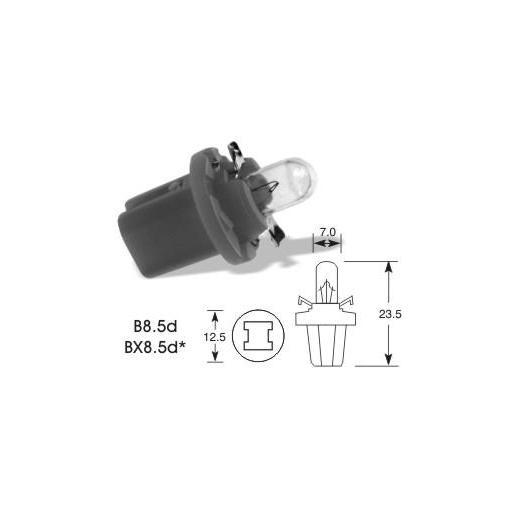 Lámpara BAX 12V/1.2W BX8.5d  BLACK  M-Tech  (10 unidades) [1]