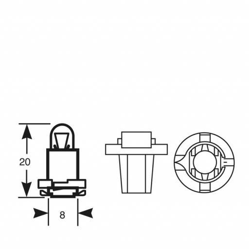 Lámpara BAX 12V/1.2W ESBR VERDE M-Tech  (10 unidades) [1]