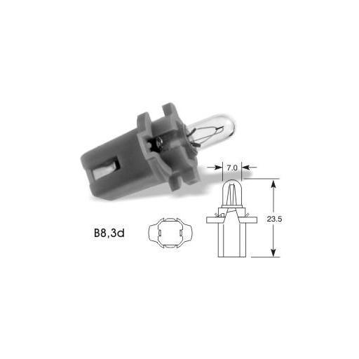 Lámpara BAX 12V/1.2W B8.3d NEGRA M-Tech (10 unidades) [1]
