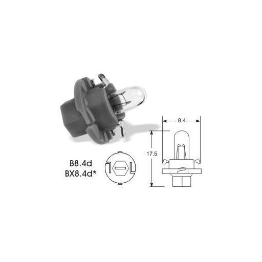 Lámpara BAX 12V/1.2W BX8.4d NEGRA M-Tech (10 unidades) [2]