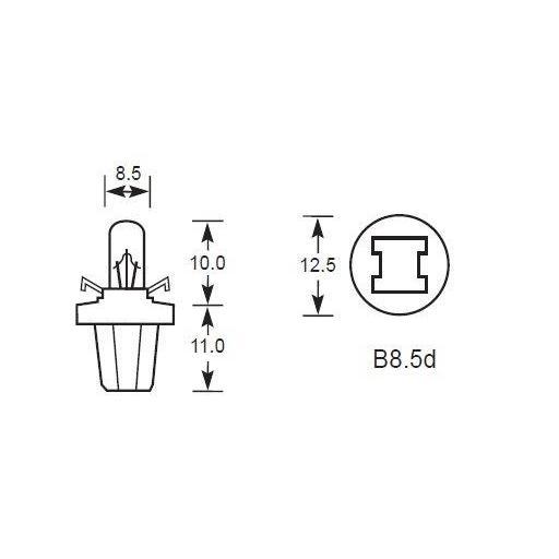 Lámpara BAX 12V/1.2W B8.5d NEGRA M-Tech (10 unidades) [1]