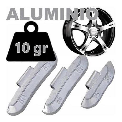 Caja de 100 Contrapesas de clip de 10gr. para llanta de Aluminio.