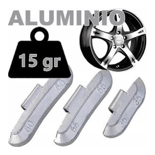 Caja de 100 Contrapesas de clip de 15gr. para llanta de Aluminio.