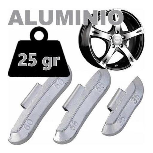 Caja de 100 Contrapesas de clip de 25gr. para llanta de Aluminio.