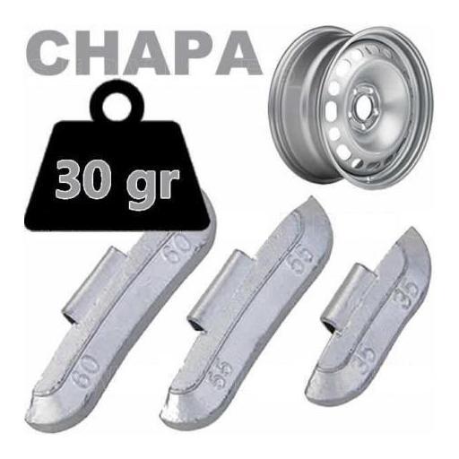 Caja de 100 Contrapesas de clip de 30gr. para llanta de Chapa de Acero.